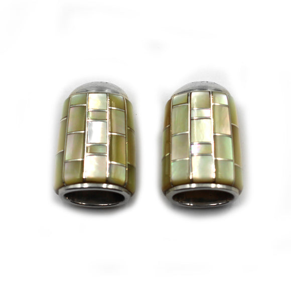 (IC013) Gold Lip Shell Inlay Cones
