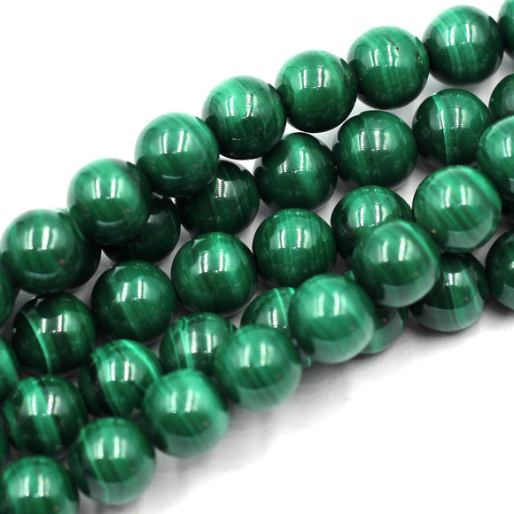 8mm Round Malachite