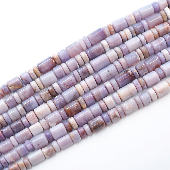 7-9MM Triangle Barrel/Rondelles Purple Chalcedony