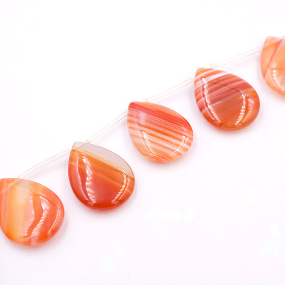 (rla001) Tear Drop Red Line Agate