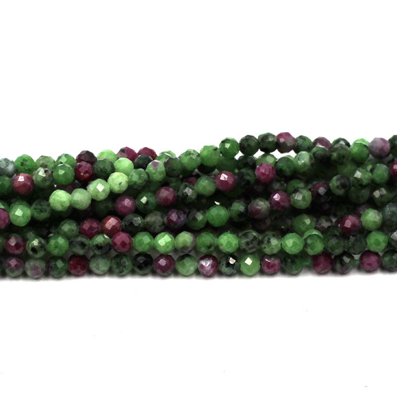 3mm Faceted Ruby Zoisite