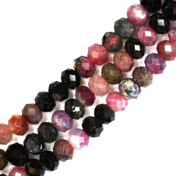 6mm faceted tourmaline rondelles