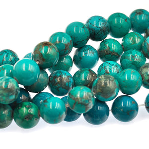Turquoise 10mm rounds