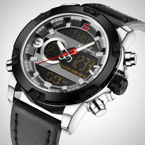 Luxury Analog Digital Leather Watch | -ENC FASHION-