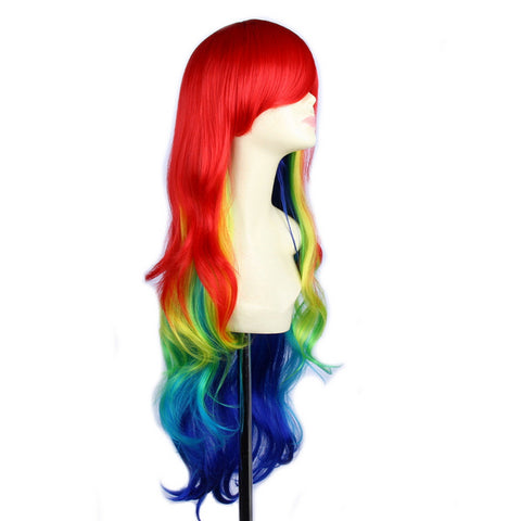 "Rainbow Ombre 32"" Synthetic Wig"