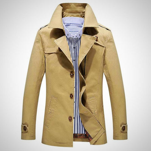 Business & European Style Slim Fit High Quality Trench Coat - -ENC FASHION-