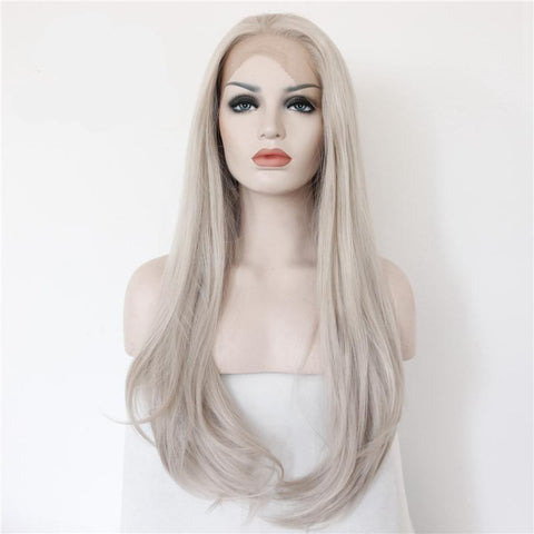 Platinum Gray Loose Wave Soft Synthetic Wig