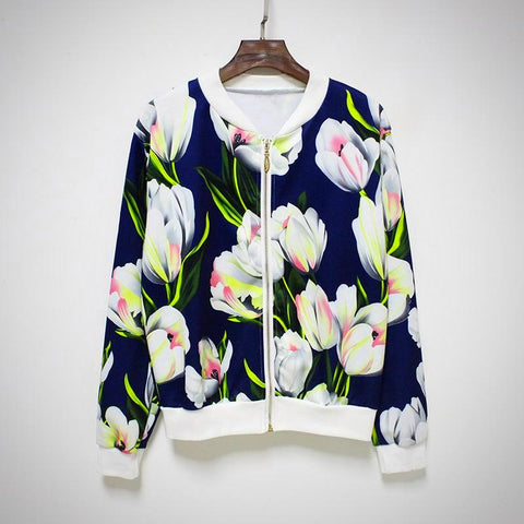 Basic Flower Jackets - -ENC FASHION-