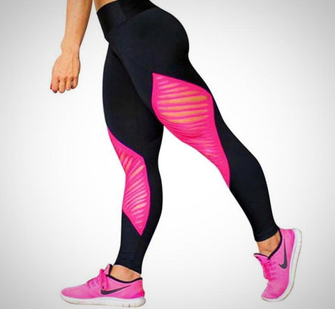 Butterfly Patch Workout Leggings - -ENC FASHION-