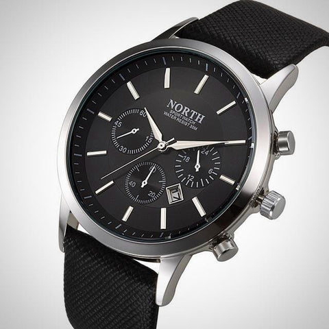 Luxury Leather Strap Male Watch | -ENC FASHION-