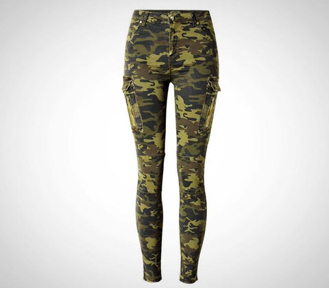 Stretch Camouflage Jean