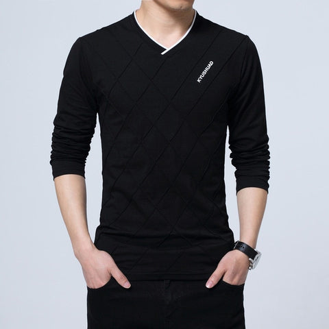 Slim Fit Long Stylish Luxury V-Neck