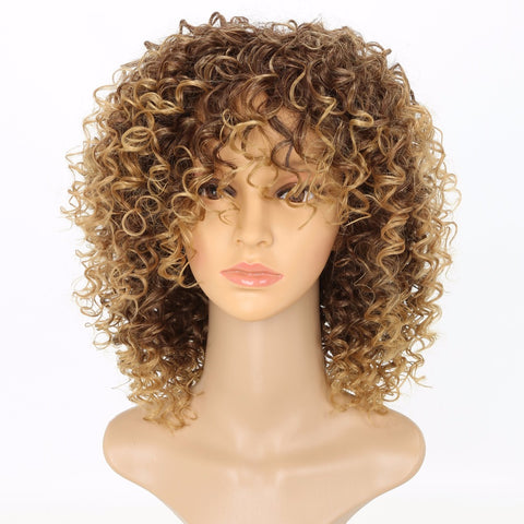Curly Ombre Blonde Nature Synthetic Wig