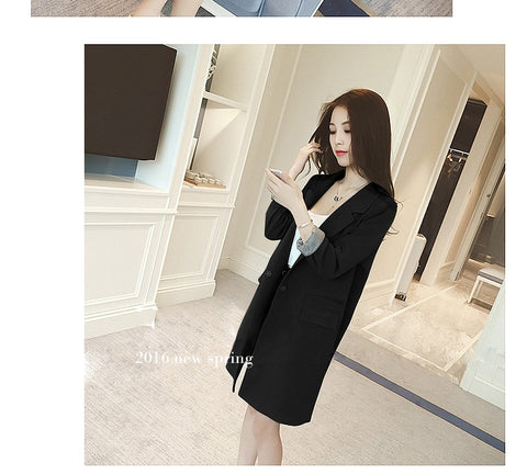 Slim Long Sleeve Blazer | -ENC FASHION-
