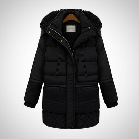 Padded Long Quilted Jacket - -ENC FASHION-