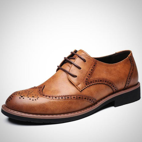 Genuine Leather Business Office Men's Flats