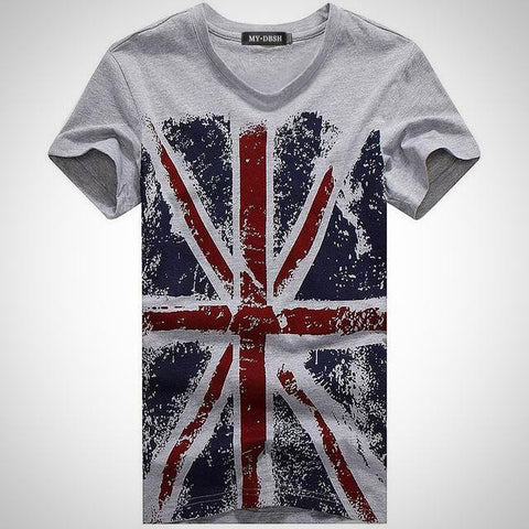 British Flag Printed T-Shirt - -ENC FASHION-
