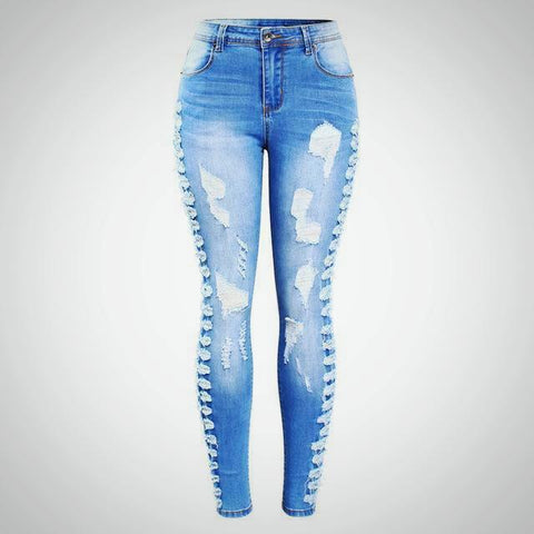 Side Star Rip Jeans