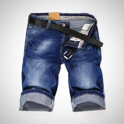 Casual Blue Denim Jean Shorts - -ENC FASHION-