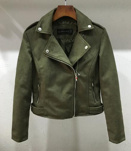 Suede Motorcycle Leather Jackets