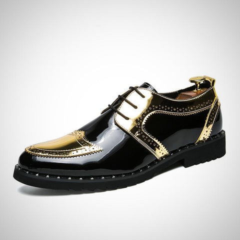 Brogues Dress Shoes For Office Slip On - -ENC FASHION-