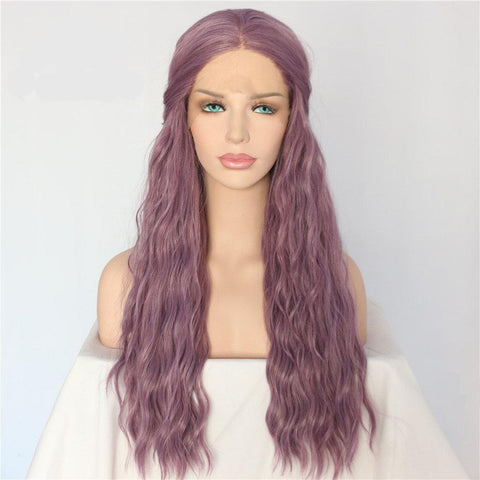 Light Purple Natural Wave Long Wig