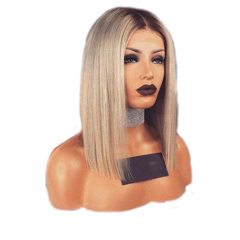 Short Ombre Blond Synthetic Wig
