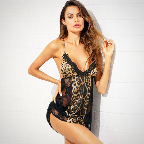 Leopard Lace Night Dress