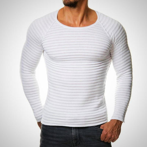 Long Sleeve Knitted T-Shirt - -ENC FASHION-
