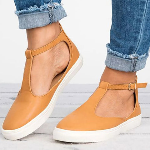 New Flat Solid Female Sneakers
