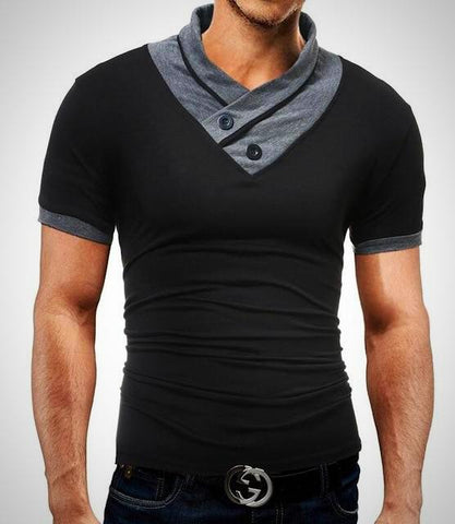 Slim Fit Short Sleeve V-Neck T-Shirt