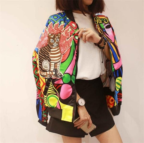 Queen Embroidery Bomber Jacket