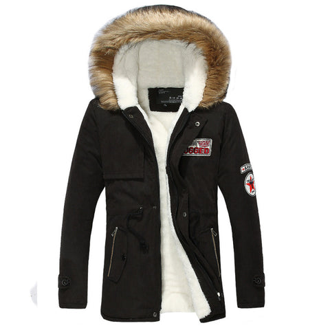Slim Fur Hooded Parka Jacket