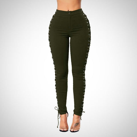 Lace Up Sexy High Waist Pants