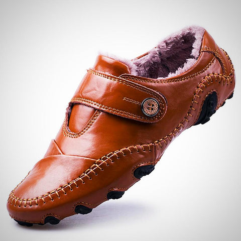 British Style Moccasins Genuine Leather - -ENC FASHION-
