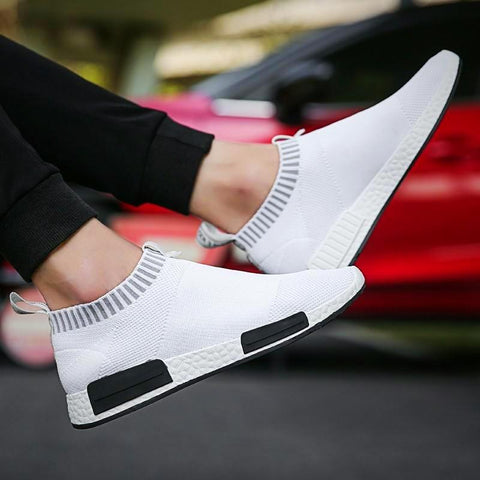 White Breathable Slip-on Casual Shoes