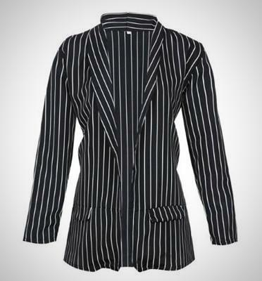 Long Sleeve Striped Blazer | -ENC FASHION-