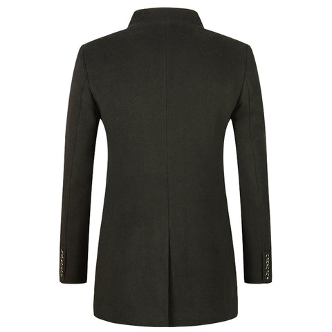 Casual Thick Wool Pea Coat - -ENC FASHION-