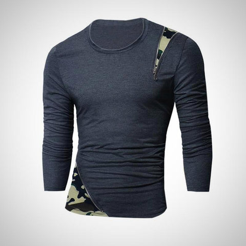 Long Sleeve Slim Fit Casual T-Shirts - -ENC FASHION-