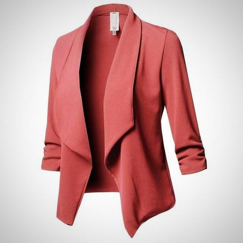 Solid Color Long Sleeve Casual Blazer | -ENC FASHION-