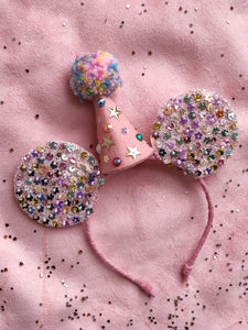 Sprinkled Confetti with Party Hat Mouse Ears