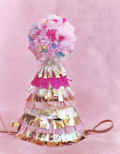 Shabby Pink Party Hat
