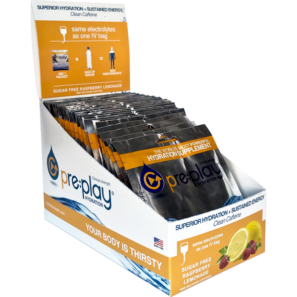 Pre:Play™ – Clinical Strength Hydration - Time Released Caffinated Energy Drink