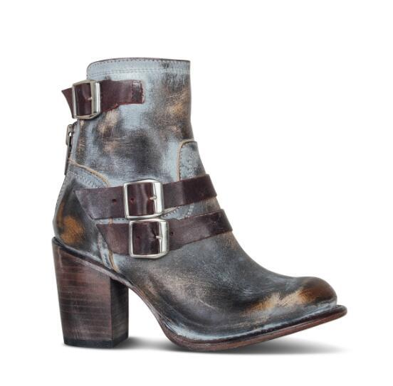 High heels ankle boots gray - All the best