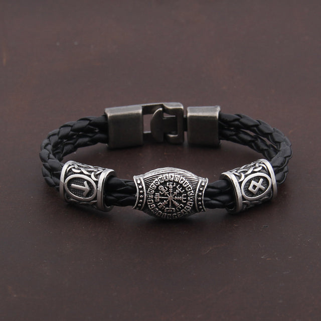 Nordic Amulet Runic Runes Beads Talisman Valknut Bracelet - All the best
