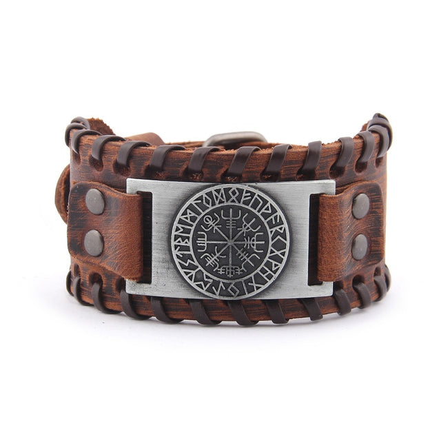 Viking Vegvisir Compass Bangles Nordic Runes bracelet - All the best