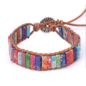 High Quality Boho Braided Bracelet Mixed Colour Turquoises - All the best