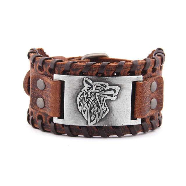 Viking Compass Genuine Leather Bracelet. - All the best