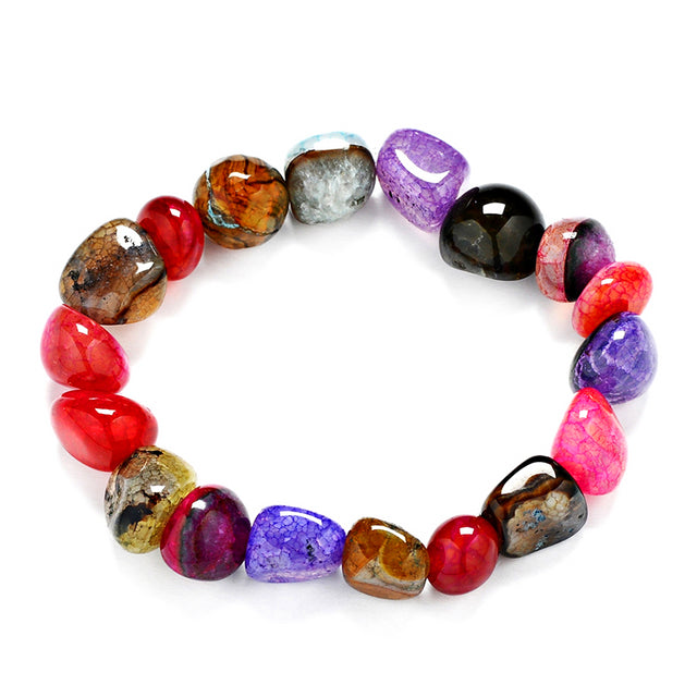 Healing Crystal colourful irregular bracelet natural stone - All the best