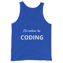 I'd Rather Be Coding Unisex Tank Top